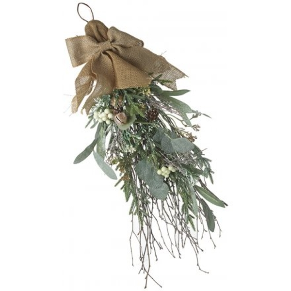 Foliage Bunch With Jute Bow 60cm