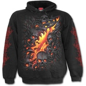 Skulll Lava Men's Medium Hoodie - Black