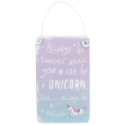 Mini Purple/Blue Unicorn Metal Sign Pack Of 12