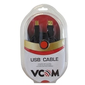 VCOM USB 2.0 A (M) to USB 2.0 B (M) 1.8m Black Retail Packaged Printer/Scanner Data Cable