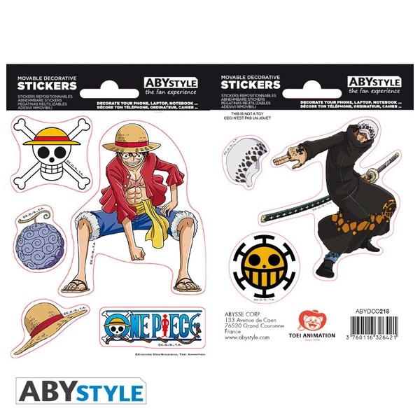 One Piece - Luffy & Law Mini Stickers