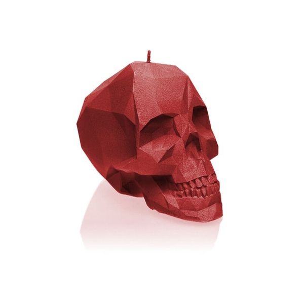 Red Large Low Poly Skull