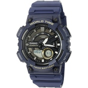 Casio AEQ-110W-2AVEF Mens Watch with World Time - Blue Resin Strap