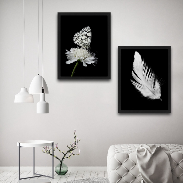 Be Free Set Multicolor Decorative Framed Painting (2 Pieces)