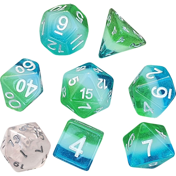 Sirius Dice - Blue Hawaiian Poly Set