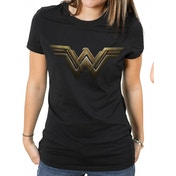 Wonder Woman Movie Logo Women's Small T-Shirt - Black