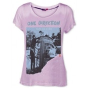 One Direction Take Me Home Pink Ripped Skinny TS: Large