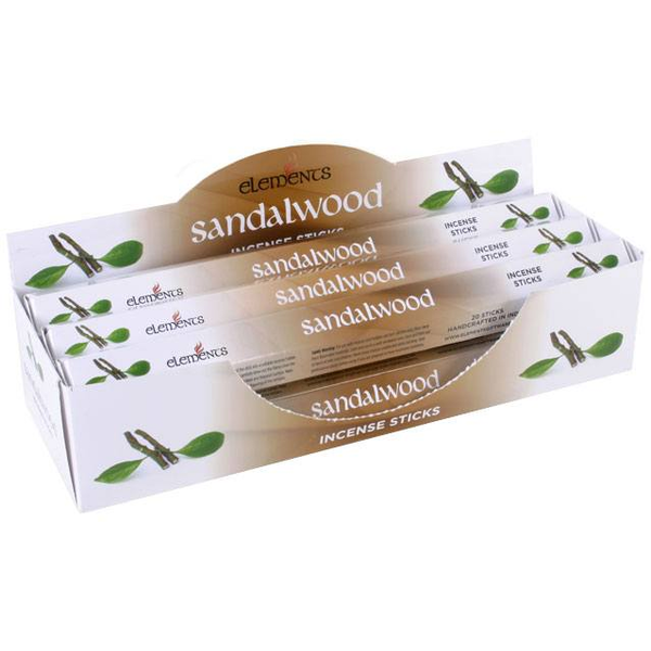 6 Packs of Elements Sandalwood Incense Sticks