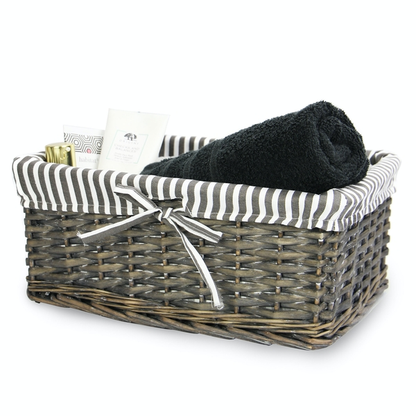 Grey Wicker Basket | M&W Medium - Image 1