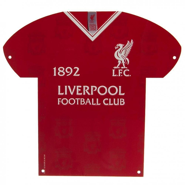 Liverpool Crest Shirt Shaped Metal Sign