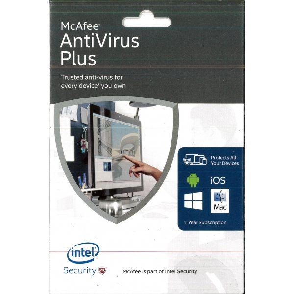 McAfee AntiVirus Plus 2016 Unlimited Devices PC Mac Android iOS