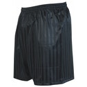 Precision Striped Continental Football Shorts 38-40 inch Black