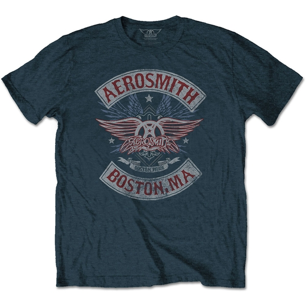 Aerosmith - Boston Pride Unisex X-Large T-Shirt - Blue