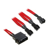 BitFenix Alchemy Molex to 3pin x3 Fan adaptor 12V 20cm - Red