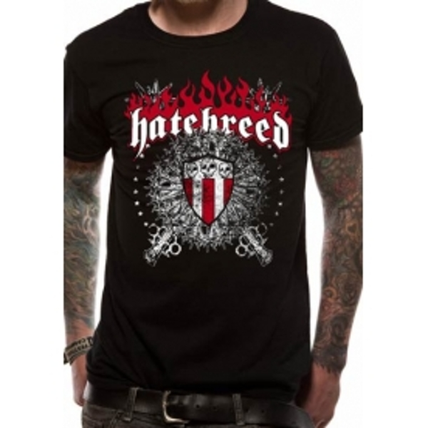 Hatebreed Skull And Maces T-Shirt Small