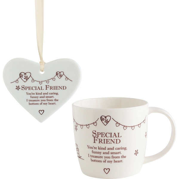 Said with Sentiment Ceramic Mug & Heart Gift Sets Special Friend
