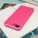Caseflex iPhone 7 Plus PU Leather Stand Wallet with Felt Lining/ID Slots - Pink (Retail Box) - Image 2