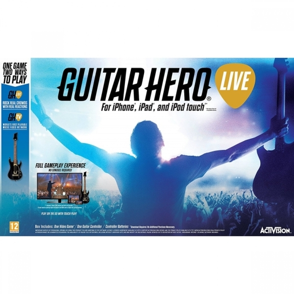 (Damaged Packaging) Guitar Hero Live with Guitar Controller iPhone, iPad, iPod Touch