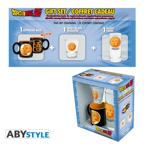Dragon Ball - Glass 29cl + Shot Glass + Mini Mug Crystal Ball Gift Box