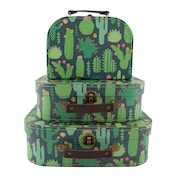 Sass & Belle Colourful Cactus Suitcases (Set of 3)