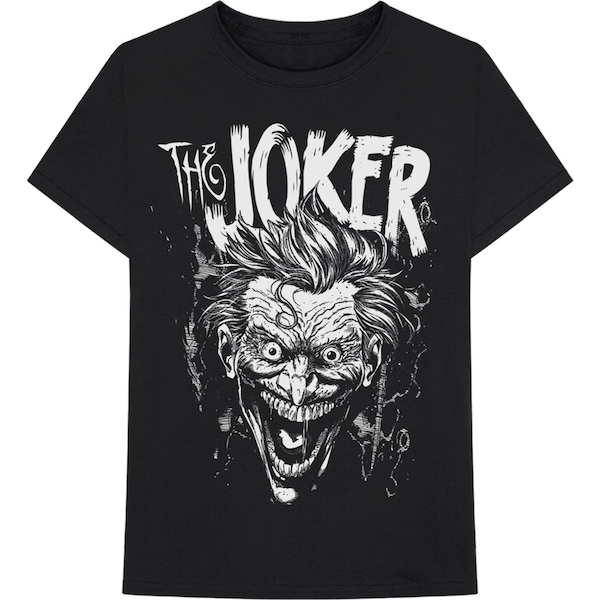 DC Comics - Joker Face Unisex Small T-Shirt - Black