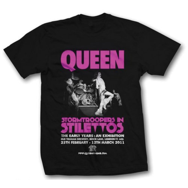 Queen - Stormtrooper in Stilettos Unisex Medium T-Shirt - Black
