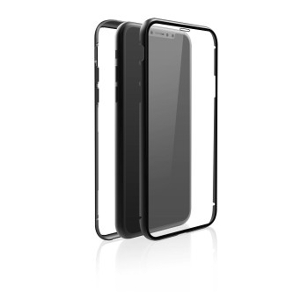 "Black Rock""360° Glass"" Protective Case for Apple iPhone X/XS, Perfect Protection, Slim Design, Plastic, 360° Cover, Black"