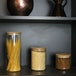 Set of 4 Glass Storage Jars with Bamboo Lids | M&W - Image 2