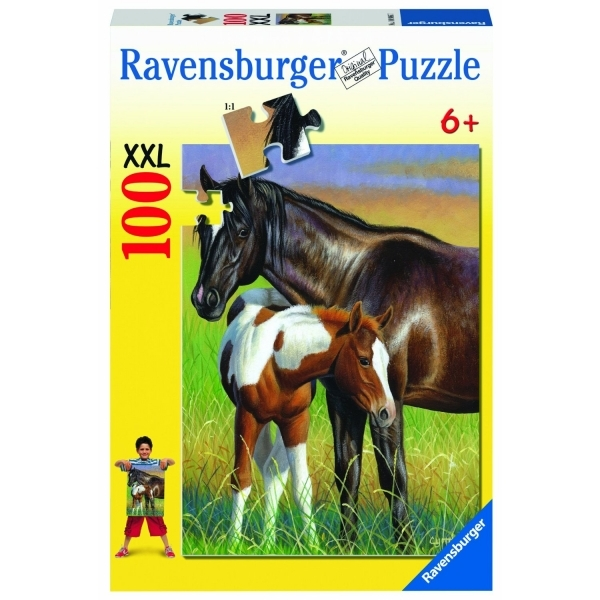 Momma and Colt 100 Piece Jigsaw Puzzle