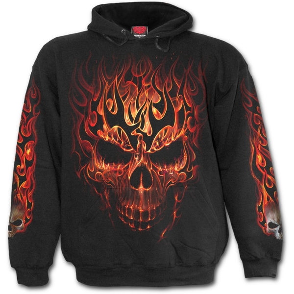 Skulll Blast Kid's Medium Hoodie - Black