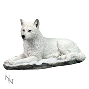 White Shadow Wolf Figurine
