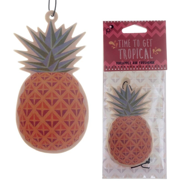 Pineapple Design Pineapple Scented (Pack Of 6) Air Freshener
