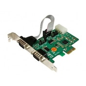 2 Port Industrial PCI Express (PCIe) RS232 Serial Card w/ Power Output and ESD Protection