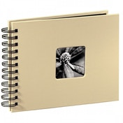 Fine Art Spiral Bound Album 24 x 17 cm 50 black pages (Taupe)