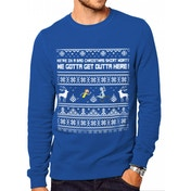 Rick And Morty - Bad Christmas Men's Large Jumper - Blue