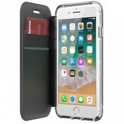 Griffin TA43987 Survivor Clear Wallet Case for iPhone8, 7, 6 Black/Clear