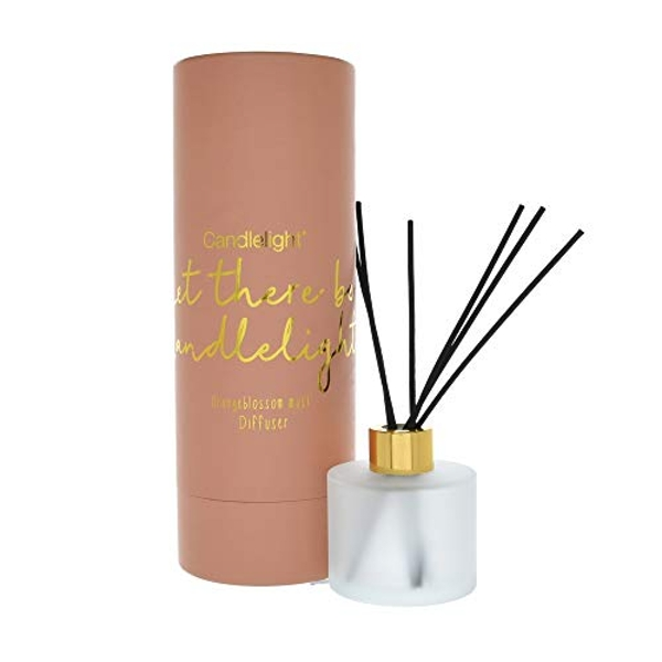 150Ml Reed Diffuser In Round Tube 'Let There Be Candlelight' - Orangeblossom Musk Scent