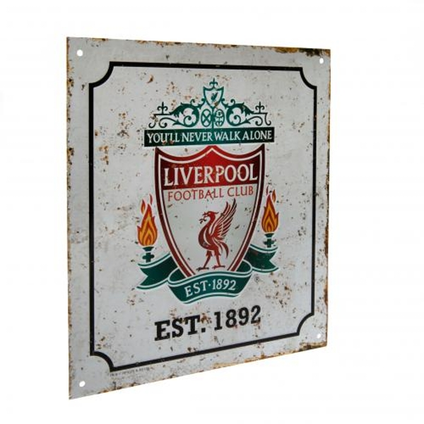 Liverpool FC Retro Logo Sign
