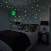 Glow In The Dark Moon & Stars Wall Stickers | Pukkr