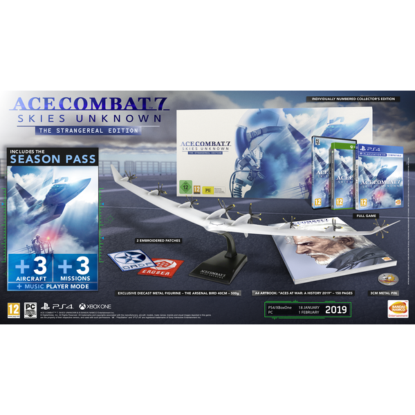 Ace Combat 7 Skies Unknown The Strangereal Edition PS4 Game (pre-order  bonus)