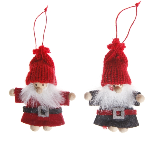 Sass & Belle Santa Felt Hanging Decoration (One Random Supplied)