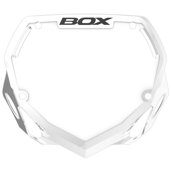 Box Phase 1 Large Number Plate White
