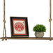 Wooden Hanging Shelf | M&W 1 Tier - Image 2