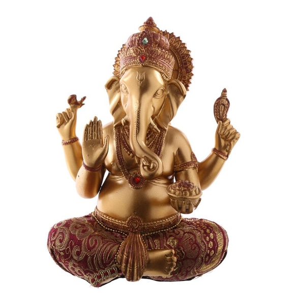 Red and Gold Ganesh Figurine