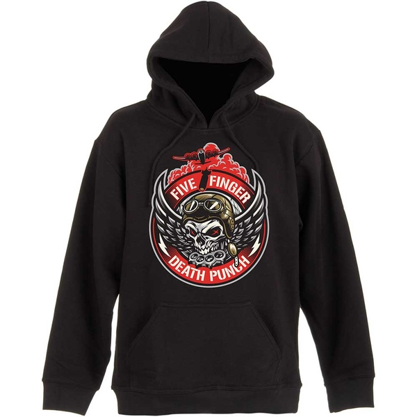 Five Finger Death Punch - Bomber Patch Unisex Large Pullover Hoodie - Black