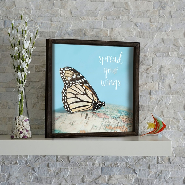 KZM594 Multicolor Decorative Framed MDF Painting
