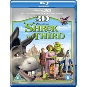 Shrek the Third 3D 3D Blu-Ray 2D Blu-Ray and DVD Blu-Ray