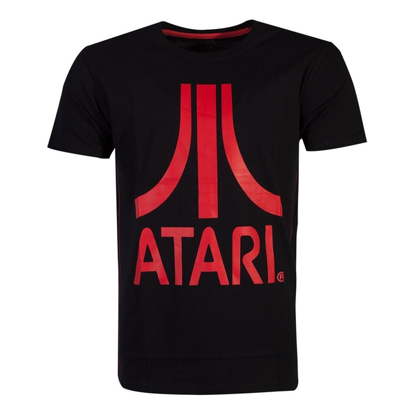 Atari - Red Logo Men's Large T-Shirt - Black
