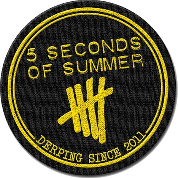 5 Seconds of Summer - Derping Stamp Standard Patch