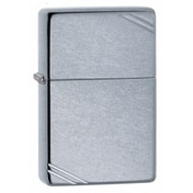 Zippo Vintage With Slashes Street Chrome Lighter